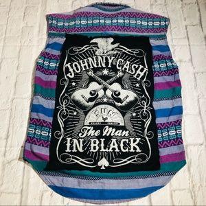 """Other - Johnny Cash """"Man in Black"""" Custom Rock Band Vest"""